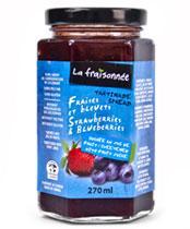confiture sans sucre fraise bleuet