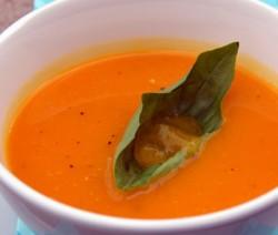 potage soupe creme pêche