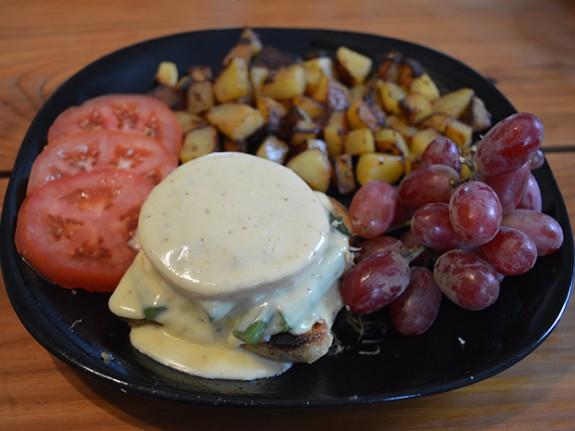 oeuf patate benedictine raisin