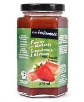 fraise rhubarbe confiture