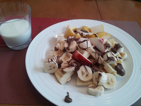 crepes bananes chocolat